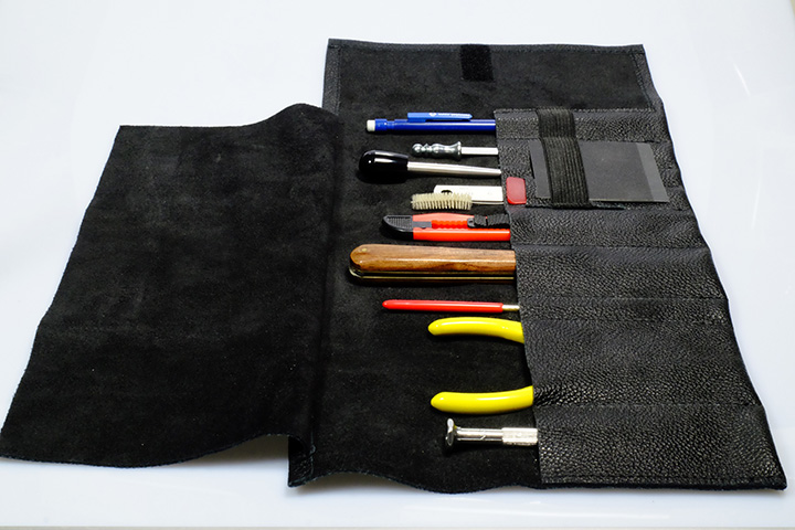 Tool case, real leather